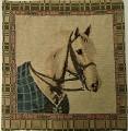 Gobelínový povlak na polštář kůň bělouš