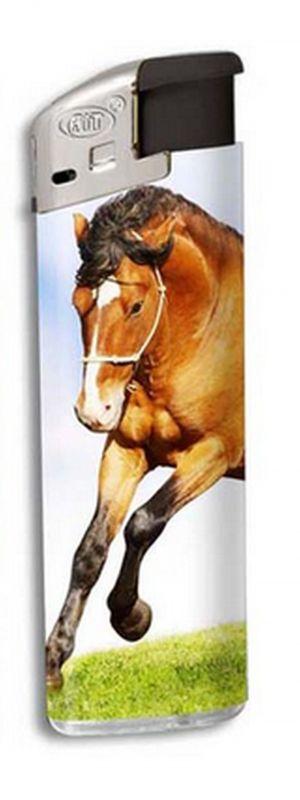 Zapalovač Horse head - hnědý běžící kůň
