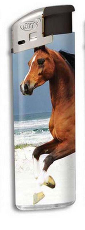 Zapalovač Horse head - hnědý kůň na pláži