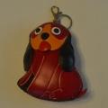 Peněženka na mince červený pes
