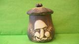 Dóza - hrnec s houbami velký
