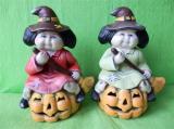 Halloweenská dýně - čarodějnice na dýni malá barevná