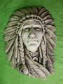 Plaketa indiánského náčelníka