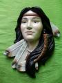 Plaketa Indiánská žena