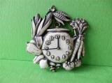 Keramické hodiny zelenina