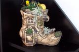 Květináč bota domek osazovací