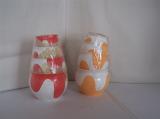 Obal na květináč sada dalmatin (4 ks) různé barvy