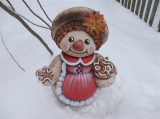 Keramická malá sněhulačka