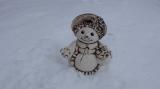 Keramická malá sněhulačka natur