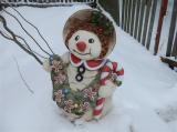 Keramická velká sněhulačka