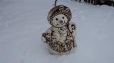 Keramická velká sněhulačka natur
