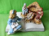 Keramický betlém na bibli