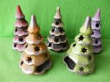 Zobrazit detail - Keramický vánoční světelný stromek malý