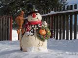 Keramický velký sněhulák