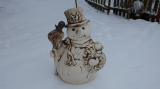 Keramický velký sněhulák natur
