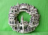 Zobrazit detail - Keramický věnec vánoční město
