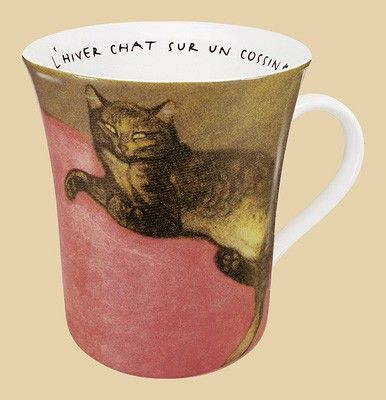 Hrnek Kočka na polštáři - Steinlen