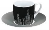 Metropolen on black - espresso