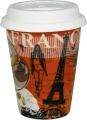 Cosmopolitan Coffee Style/France - hrnek se silik.víčkem