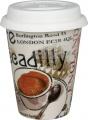 Cosmopolitan Coffee Style/England - hrnek se silik.víčkem