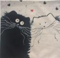 Povlak na polštář kočky