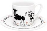 Hrnek Little farm/Cows - espresso - krávy