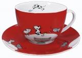 Hrnek Globetrotter/Cat - hrnek na kávu s mlékem - kočka