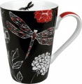 Hrnek Black-red Dragonfly- černo červená vážka