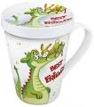 Hrnek s víčkem Best friends - krokodýl a zajíček