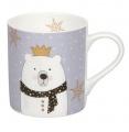 Hrnek Mug Scarfed Animals - Lední medvěd