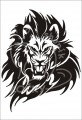 0027 Samolepka lví hlava