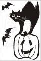 0029 Samolepka Heloweenská kočka