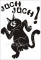 0031 Samolepka juchající kočka
