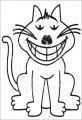 0032 Samolepka vysmátá kočka