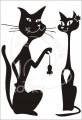 0034 Samolepka kocour balí kočku