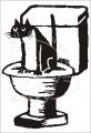 0035 Samolepka kočka na WC