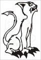 0042 Samolepka kočka démon