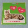 VELKÉ SAMOLEPKY BENGAL - kočka bengálská