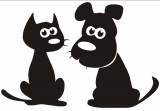 0228 Nažehlovací obrázek pejsek a kočička