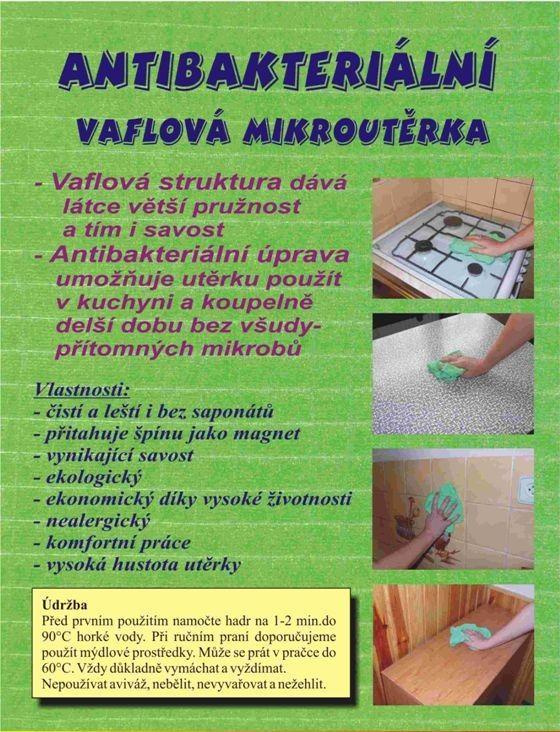 Antibakteriální vaflová utěrka Centrum Service