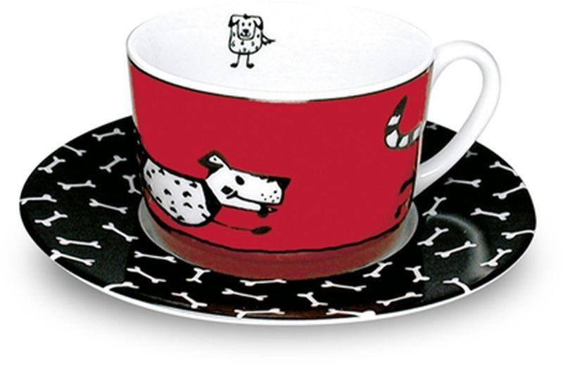 Hrnek na cappuccino Psi a kostičky
