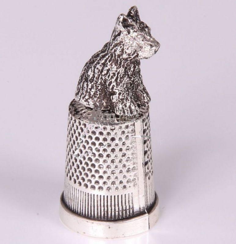 Náprstek pes - stříbrný