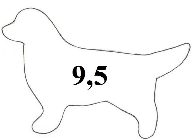 Vykrajovátko - formička pes velký 2673