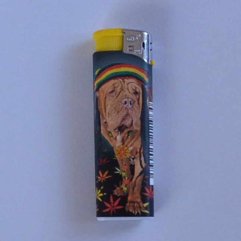Zapalovač Dog Head žlutý