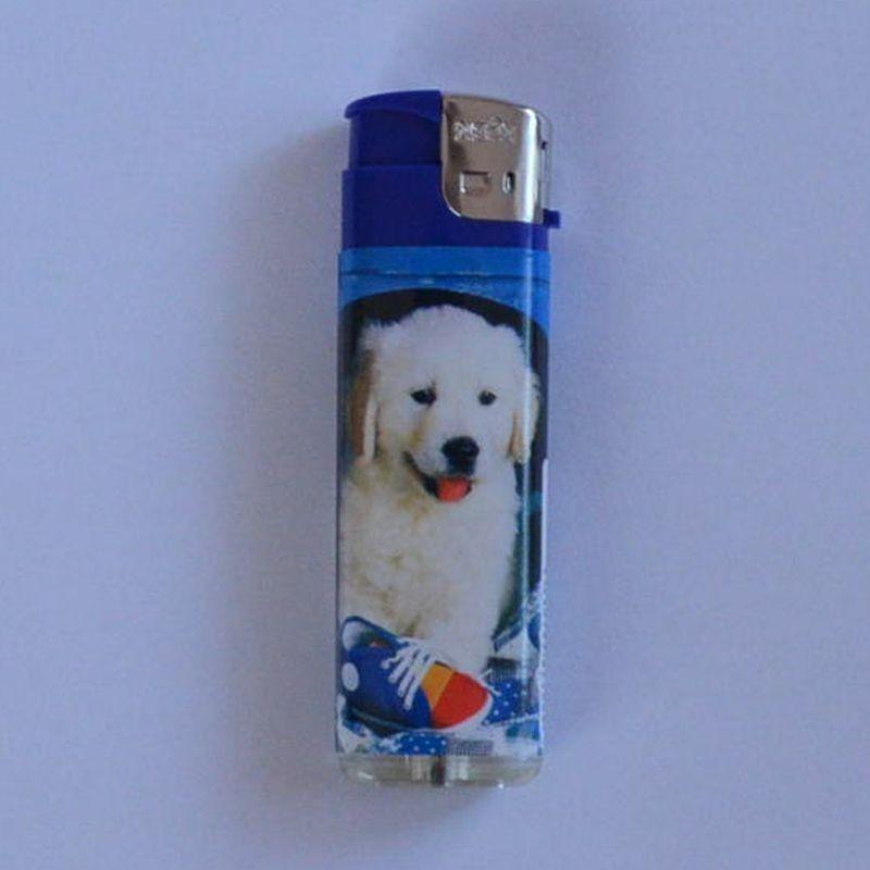 Zapalovač Happy Dog modrý