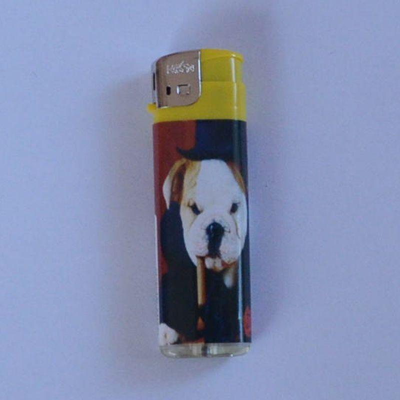 Zapalovač Happy Dog žlutý