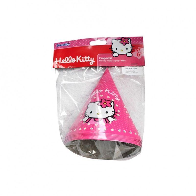 Papírové kloboučkys kočkou HELLO KITTY 6 ks