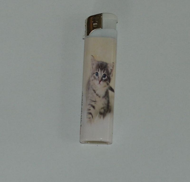 Zapalovač Cat head - koťátko bílý
