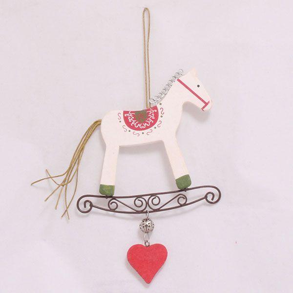 Bílý závěsný kůň - vintage
