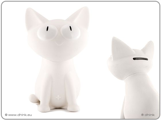 Bílá kasička kočka Silly